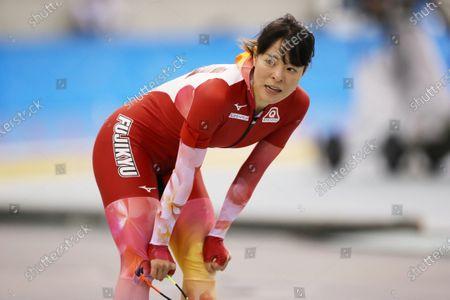 Stock Image of Sumire Kikuchi - Speed Skating :  The 27th All Japan Speed Skating Single Distance Championships  Women's 1500m  at M-Wave in Nagano, Japan.