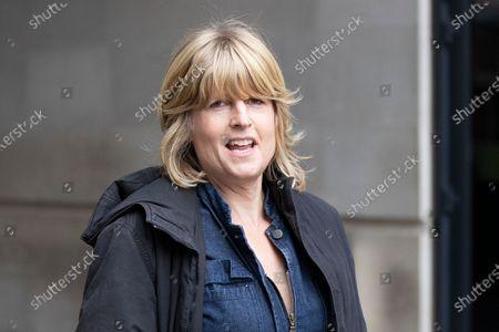 Sister of Prime Minister Boris Johnson Rachel Johnson departs the BBC.