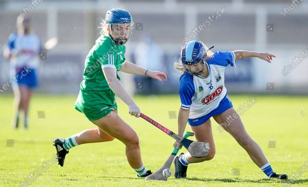 Stock Image of Waterford vs Limerick. Waterford's Annie Fitzgerald with Marian Quaid of Limerick