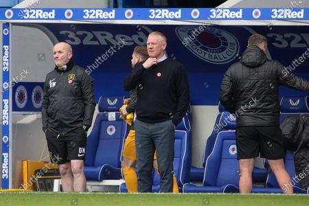 Stock Photo of Gary Holt (Livingston) during the Scottish Premiership match between Rangers and Livingston at Ibrox, Glasgow