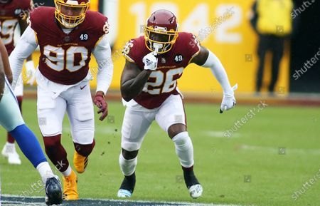 Washington Football Team strong safety Landon Collins (26) in action during an NFL football game against the Dallas Cowboys, in Landover, Md