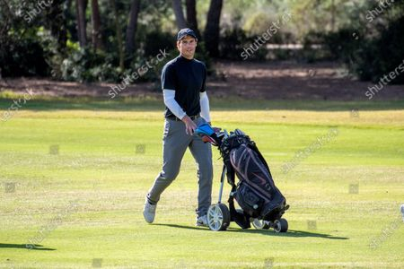 Stock Image of Spanish tennis player Rafael Nadal competes in Balearic Golf Championship at Maioris golf club in Llucmajor, Majorca island, eastern Spain, 25 October 2020.