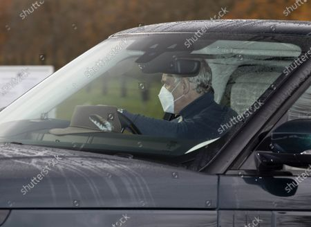 Prince Andrew Duke Of York arrives at Windsor Castle seen for the first time since the latest Jeffrey Epstein revelations.
