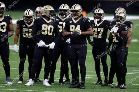 New Orleans Saints defensive end Cameron Jordan (94) during an NFL football game against the Carolina Panthers, in New Orleans