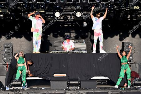 Stock Picture of Walshy Fire, Jillionaire and Diplo, of Major Lazer