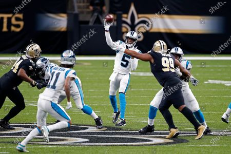 Editorial image of Panthers Saints Football, New Orleans, United States - 25 Oct 2020