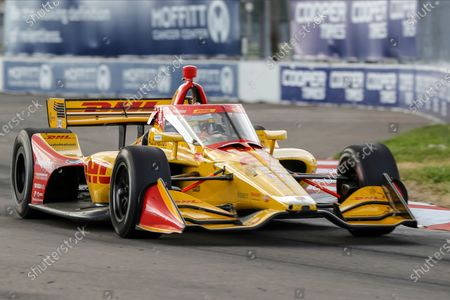 Ryan Hunter-Reay drives during an IndyCar auto race, in St. Petersburg, Fla. Hunter-Reay finished fifth in the race