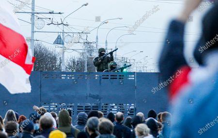 Protests, Minsk, Belarus - 25 Oct 2020 témájú szerkesztői fotó