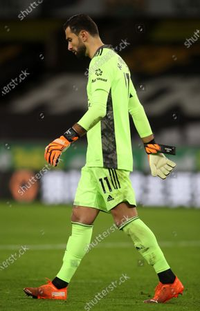 Wolverhampton goalkeeper Rui Patricio after the English Premier League match between Wolverhampton Wanderers and Newcastle United in Wolverhampton, Britain, 25 October 2020.