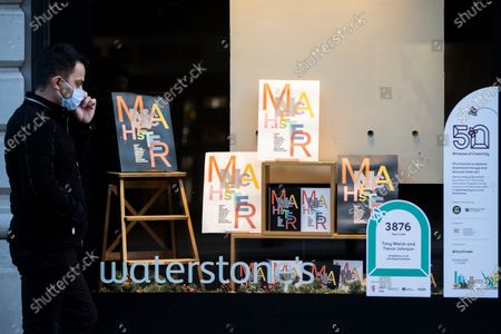 Work by artists Tony Walsh and Trevor Johnson in the window of Waterstones ready for the 50 Windows of Creativity art trail which will run from October 26th to December 5th, turning the city in to a large scale art gallery.
