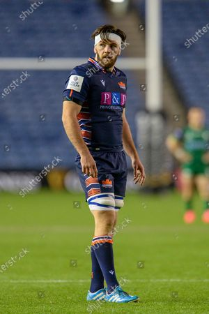 Ally Miller (#7) of Edinburgh Rugby during the Guinness Pro 14 match between Edinburgh Rugby and Connacht Rugby at BT Murrayfield, Edinburgh