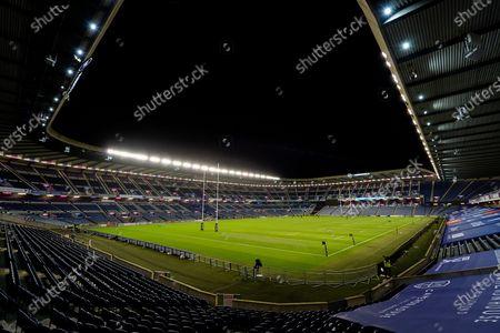 General view inside BT Murrayfield Stadium, Edinburgh