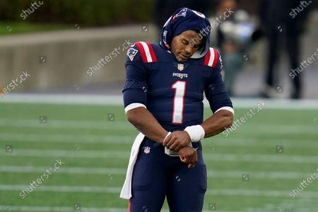 Redactionele afbeelding van 49ers Patriots Football, Foxborough, United States - 25 Oct 2020