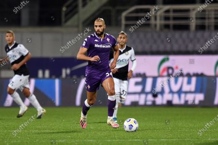 Sofyan Amrabat of ACF Fiorentina in action during ACF Fiorentina vs Udinese Calcio, Italian soccer Serie A match in florence, Italy, October 25 2020