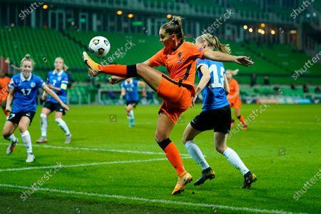 Editorial picture of Netherlands v Estonia, UEFA Women's Championship, Qualification, Groningen, Netherlands - 23 Oct 2020