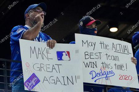 World Series Dodgers Rays Baseball, Arlington, United States - 25 Oct 2020 témájú szerkesztői kép