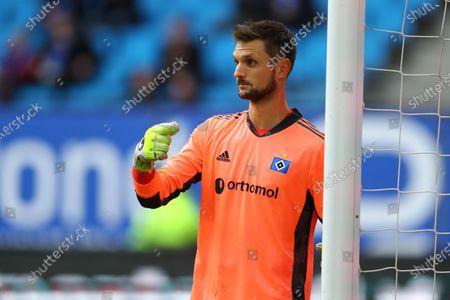 Hamburgs Torwart Sven Ulreich beim Spiel zwischen dem Hamburger SV (HSV) vs. Würzburger Kickers in Hamburg