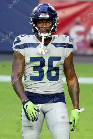 Seattle Seahawks running back Anthony Jones (36) during an NFL football game against the Arizona Cardinals, in Glendale, Ariz