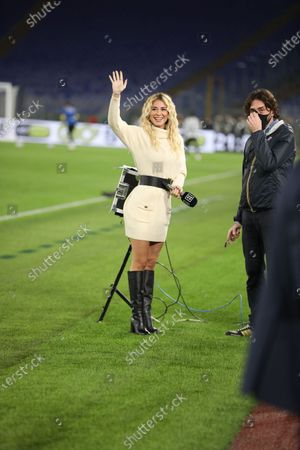 At Stadio Olimpico beat Bologna 2-1 for the fifth match of Italian Serie A. In this picture italian anchor woman Diletta Leotta before the match.