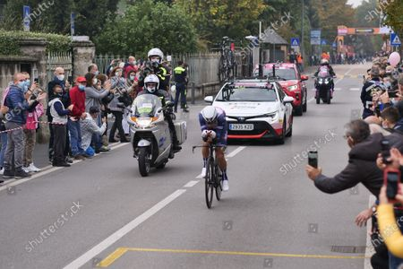 Vincenzo Nibali in last stage of the Giro d'Italia, individual time trial from Cernusco sul Naviglio to Milan.