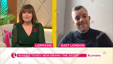 Lorraine Kelly and Russell Tovey