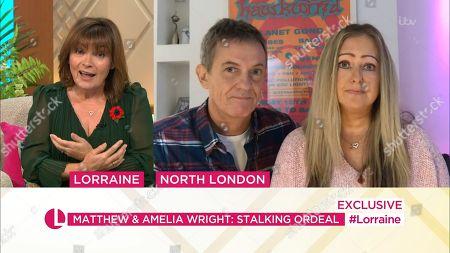 Lorraine Kelly, Matthew Wright and Amelia Wright