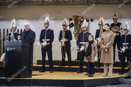 Editorial photo of Inauguration of the golden bridge Slussbron, Stockholm, Sweden - 25 Oct 2020