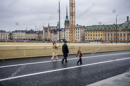 Editorial picture of Inauguration of the golden bridge Slussbron, Stockholm, Sweden - 25 Oct 2020