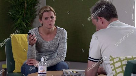 Coronation Street - Ep 10161 Friday 6th November 2020 - 1st Ep Nick Tilsley, as played by Ben Price, and Leanne Tilsley, as played by Jane Danson, playback Wendy's interviews. What will they hear?