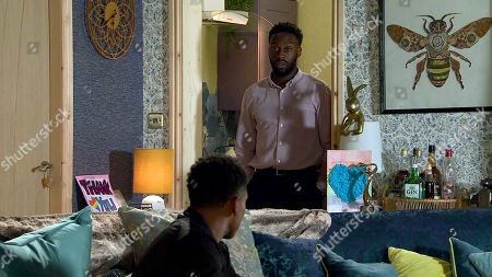 Coronation Street - Ep 10158 Monday 2nd November 2020 - 2nd Ep  James Bailey, as played by Nathan Graham, advises Michael Bailey, as played by Ryan Russell, to steer well away as Grace may well be lying.