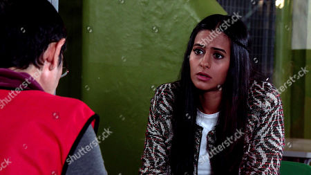 Coronation Street - Ep 10152 Monday 26th October 2020 - 2nd Ep Yasmeen Metcalfe, as played by Shelley King, admits to Alya Nazir, as played by Sair Khan, she signed half the house over to him too.