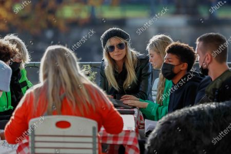 Heidi Klum, Helene Leni Boshoven Samuel, Heidi Klum goes sightseeing with family in Berlin