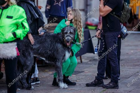 Helene Leni Boshoven Samuel, dog Anton, Heidi Klum goes sightseeing with family in Berlin