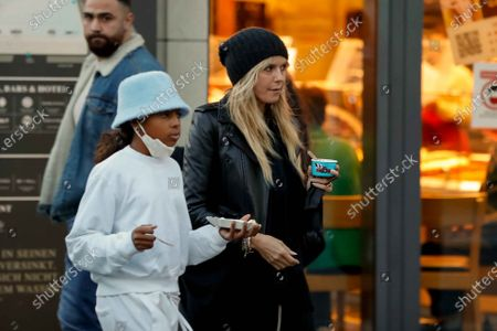 Stock Image of Heidi Klum, Lou Sulola Samuel, Heidi Klum goes sightseeing with family in Berlin
