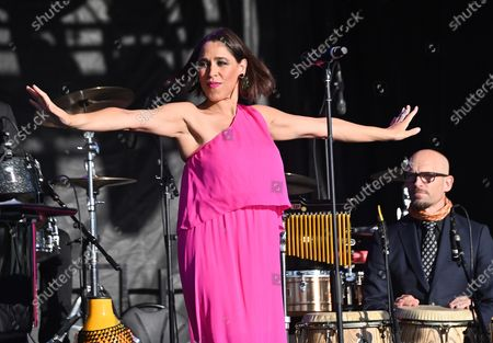 Editorial image of Pink Martini at the Drive-In, Burlingame, California, USA - 25 Oct 2020