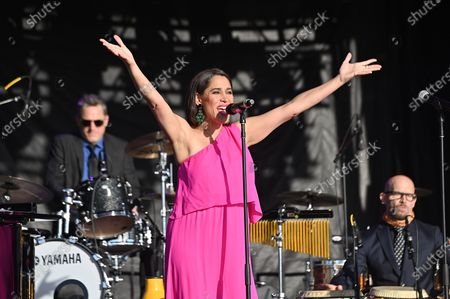 Editorial picture of Pink Martini at the Drive-In, Burlingame, California, USA - 25 Oct 2020