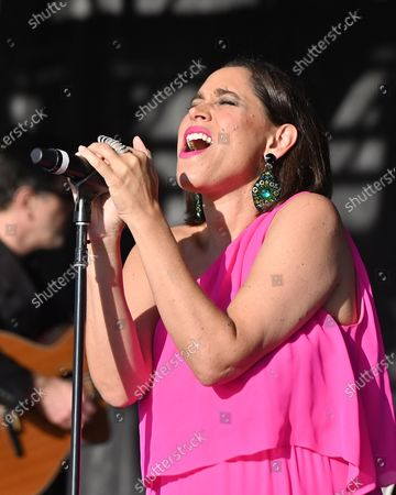 Editorial photo of Pink Martini at the Drive-In, Burlingame, California, USA - 25 Oct 2020