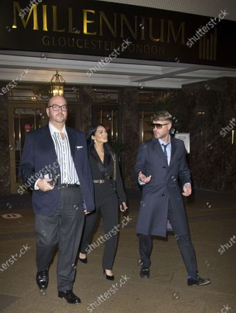 Stock Photo of Jonathan Sothcott, Jeanine Nerissa Sothcott, Danny Bear, Virtual awards for SME News, Greater London Enterprise Awards, awards Shogun Films, Best emerging Independent Film Production UK award.