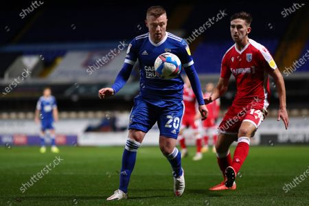 Freddie Sears of Ipswich Town and Robbie McKenzie of Gillingham - Ipswich Town v Gillingham, Sky Bet League One, Portman Road, Ipswich, UK - 27th October 2020Editorial Use Only - DataCo restrictions apply