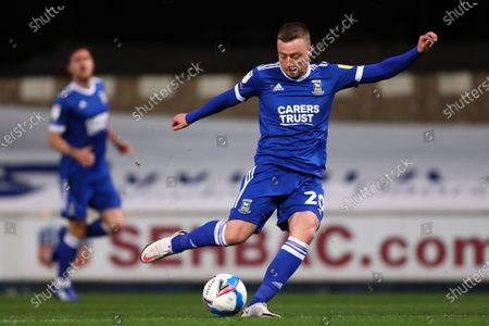 Freddie Sears of Ipswich Town shoots at goal - Ipswich Town v Gillingham, Sky Bet League One, Portman Road, Ipswich, UK - 27th October 2020Editorial Use Only - DataCo restrictions apply