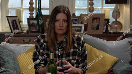 Emmerdale - Ep 8888 Friday 13th November 2020 Harriet Finch, as played by Katherine Dow Blyton, panics when Laurel and Nicola reveal they've asked around and people are happy to help put money towards a budget wedding.