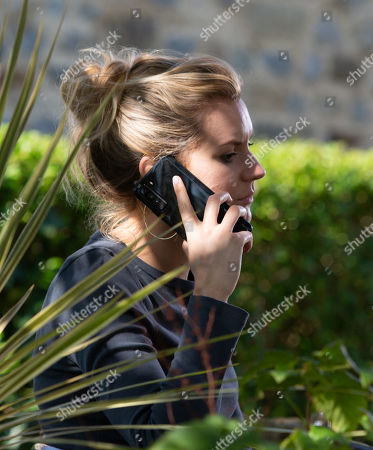 Emmerdale - Ep 8887 Thursday 12th November 2020 Dawn Taylor, as played by Olivia Bromley, gets a call and tells a man named Richard not to call her again.