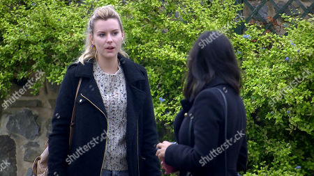 Emmerdale - Ep 8874 Thursday 29th October 2020 - 1st Ep Dawn Taylor, as played by Olivia Bromley, asks Priya Sharma, as played by Fiona Wade, whether she'd be able to get her job back.