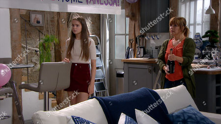 Emmerdale - Ep 8873 Wednesday 28th October 2020 Charity Dingle, as played by Emma Atkins, is gutted when Vanessa opts to go back to her mums after the custody hearing. With Sarah Sugden, as played by Katie Hill ; Rhona Goskirk, as played by Zoe Henry.