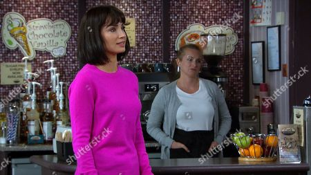Emmerdale - Ep 8871 Monday 26th October 2020 When Meena mentions the flowers and shows Leyla Harding, as played by Rokhsaneh Ghawam-Shahidi, the card addressed from Liam Cavanagh, Leyla's horrified.