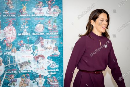 Denmark's Crown Princess Mary smiles during the presentation of this year's Christmas stamp at Julemaerkehjemmet Liljeborg in Roskilde, Denmark, 26 October 2020. Since 1904, the Christmas Stamp Foundation has annually published a special Christmas Stamp which aims at raising money for children at one of Denmark's five Christmas Stamp Homes. At those home some 1,000 children every year can stay and receive help in combating loneliness, bullying, social isolation and obesity.