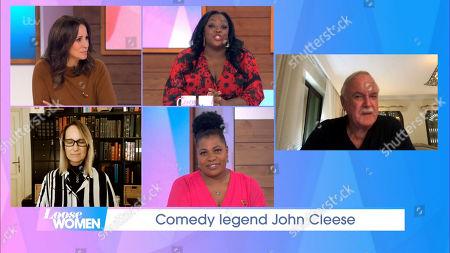 Andrea McLean, Judi Love, Carol McGiffin, Brenda Edwards and John Cleese