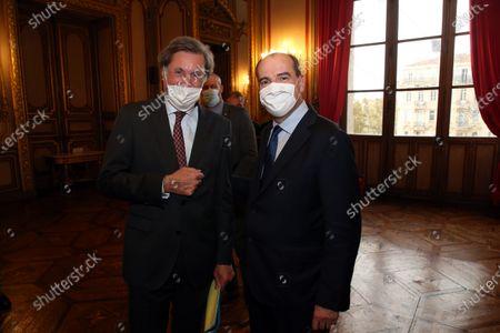 Stock Picture of Patrick de Carolis and Jean Castex.