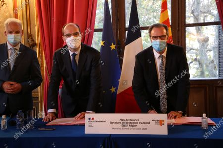 Alain Griset, Jean Castex and Renaud Muselier.