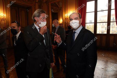 Stock Image of Patrick de Carolis and Jean Castex.